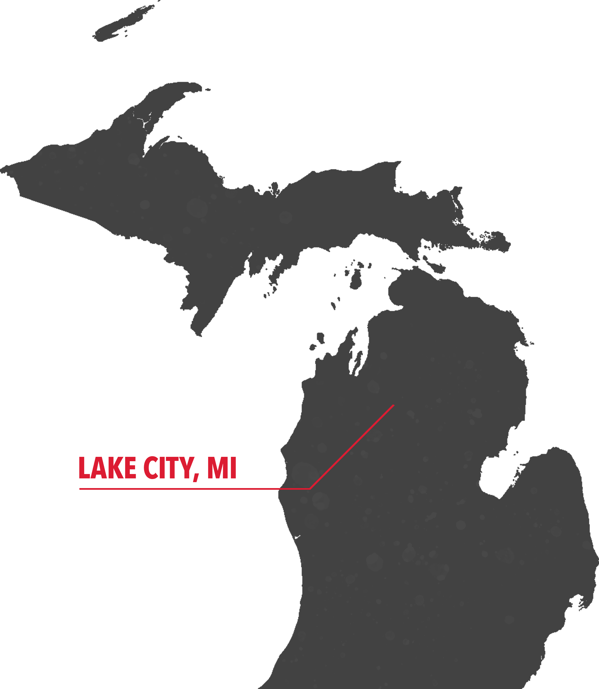 Map of Michigan Lake City